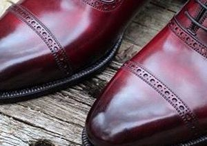 Light  Burgundy  calf