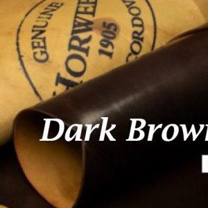 Dark Brown Shell Cordovan Handpainted Patina