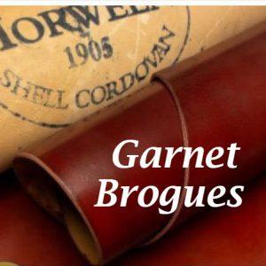Brogues Garnet Shell cordovan Handpainted Patina