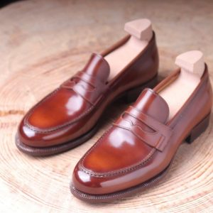 Colonial Horse glisse leather ,special tan