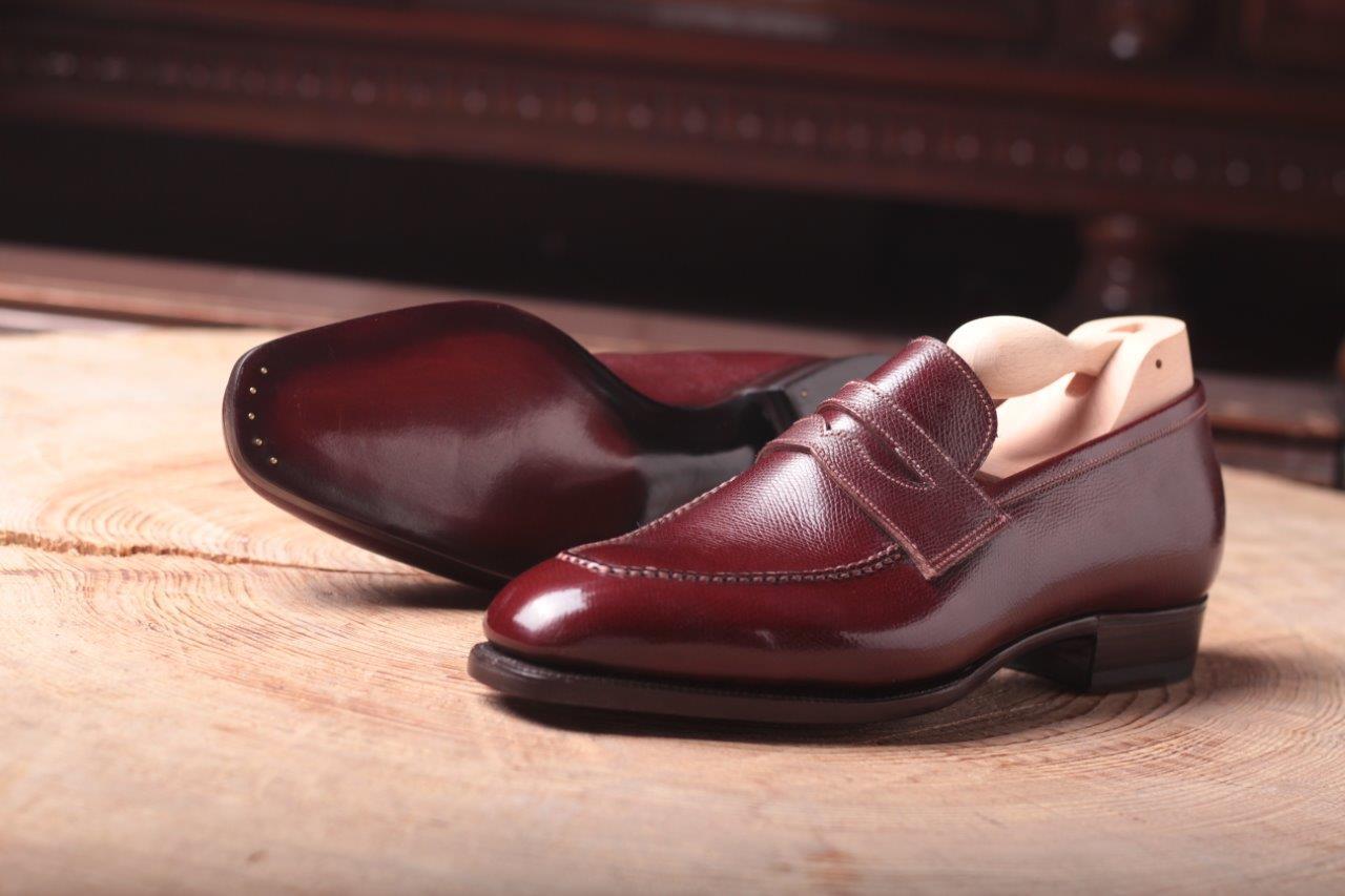 Pin grain Annonay Burgundy – Meccariello Shoes