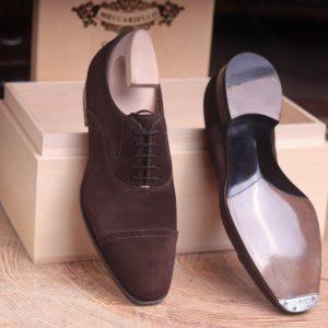 1-Equites 2 dark brown reverse suede calf Janus C.S.
