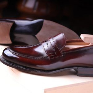 Campus Penny loafer in Noce di Sorrento(dark Chestnut)