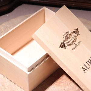 Wood box for shoes