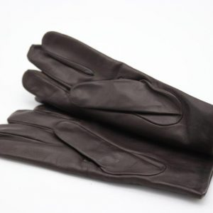 1a)  Lamb Gloves in dark brown, and Cashmere lining