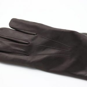 Lamb Gloves in dark brown, and Cashmere lining
