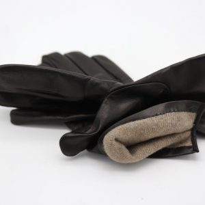 Lamb Gloves in black , and Cashmere lining (Copy)