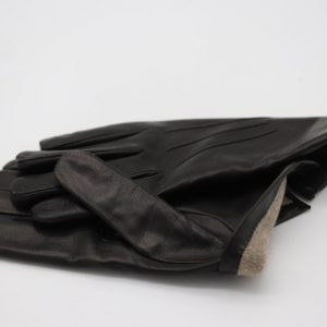 1a)  Lamb Gloves in black , and Cashmere lining (Copy)