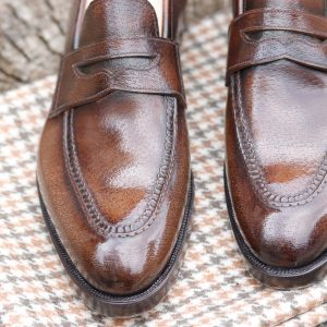 1 – AA Valerius Pie crust Peccary loafer Handwelted Made to order